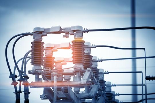 Stromkraftwerk im Betrieb